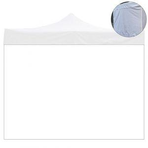 Bâche latérale 6x2m PVC blanche imperméable pour tonnelle 3x6m 9012/2