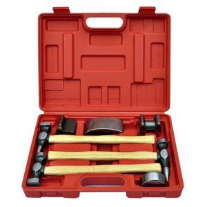 Coffret set de marteau et tas pour carrossier 7 pièces outils garage atelier bricolage