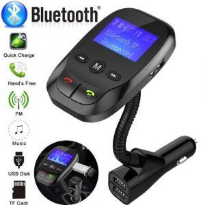 Sans fil allume-cigare Transmetteur FM Bluetooth Adaptateur Radio MP3 Kit de voiture Chargeur USB