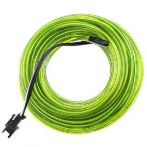 Jaune fil électroluminescent 2.3mm bobine 10m connecté à 220VAC