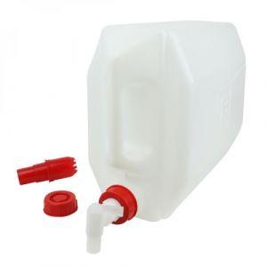 Bidon en plastique (PEHD) pour usage alimentaire avec bouchon + robinet - 20L