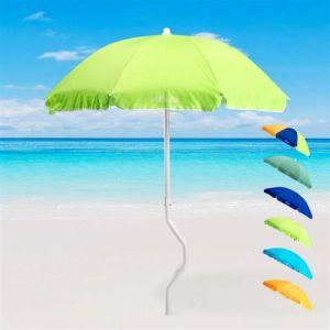 Parasol de plage 180 cm coton pêche GiraFacile DIONISO, Couleur: Vert