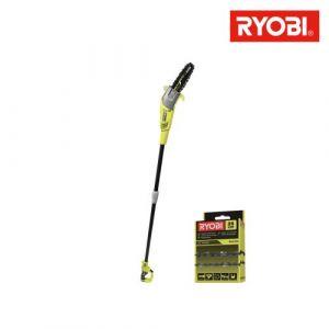 Pack RYOBI élagueur électrique sur perche RPP755E - chaîne 25cm pour élagueur électrique sur perche RAC240