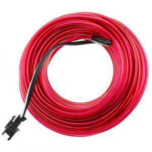 Fil électroluminescent rose Batterie 5m bobine de 2.3mm
