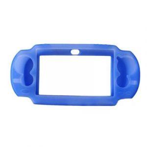 Housse étui protection silicone pour Sony ps vita PSvita - Anti choc / rayures - bleu - Straße Game ®