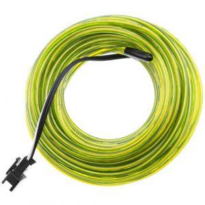 Fil électroluminescent Jaune 2.3mm bobine 25m