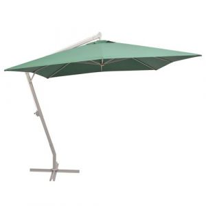 vidaXL Parasol Poteau en Aluminium Vert Ombrage Pare-soleil Protection UV