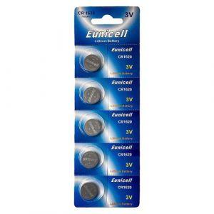 5 Piles Bouton Pkcell CR1620 - Pile Lithium 3V