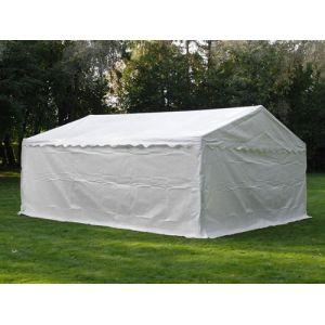 Tente de stockage Tente Abri Basic 2-en-1, 5x6m PE, blanc