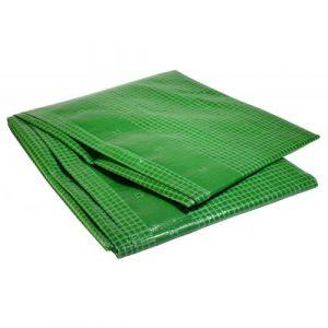 Bâche plastique 4 x 6 m armée verte 170g/m² - bâche armée renforcée 4x6 m en polyéthylène