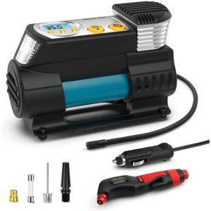 Compresseur d'air Portable, Morpilot Multi-fonctionnel Gonfleur Pneus Electrique pour Voiture 12V