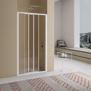 Samo - Porte de douche coulissante à 3 panneaux 95-103 cm profilés chromé brillant verre transparent - AMERICA