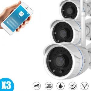 Lot de trois mini caméra tube surveillance extérieure full hd wifi - Vstarcam