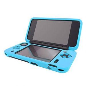 Housse étui protection silicone pour Nintendo NEW 2 DS XL (NEW 2DS LL) - Anti choc / rayures - Bleu - Straße Game ®