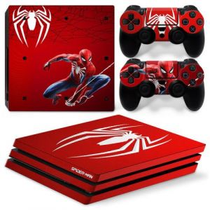Autocollant Stickers Skin de Protection pour Console et Manette Sony Playstation PS4 Pro - Spiderman #7