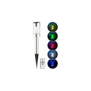 Borne solaire à LED RVB télécommandée Style