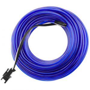 Bleu fil électroluminescent Batterie 5m bobine de 2.3mm noir