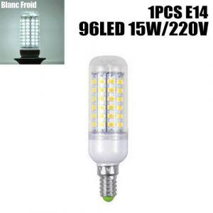 Ampoule à maïs Lumière E14 220V 15W 96LED blanc froid