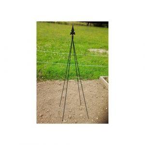 L'Héritier Du Temps - Tuteur pyramide façon obélisque treillis de jardin tuteur à fleurs plantes extérieur en fer forgé noir 40x40x195cm