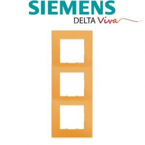 Siemens - plaque triple orange siemens delta viva