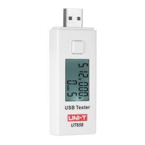 Roeam Ampèremètre USB,UNI-T Testeur Voltmètre Courant de Mesure LCD,USB Testeur de Piles de Tension