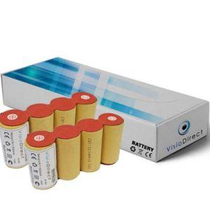 Lot de 2 batteries pour Karcher k85 4.8V 2000mAh Balai électrique - Visiodirect -