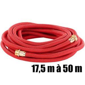 Tuyau d'arrosage extensible PRO.V5 avec raccords en aluminium - 17,5 à 50 m