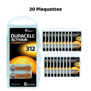 Piles Auditives Duracell Activair 312