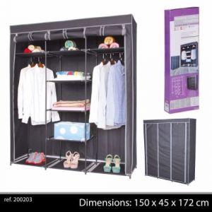 grande penderie étagere armoire de rangement pour vêtement, placard dressing de chambre portant en tissu