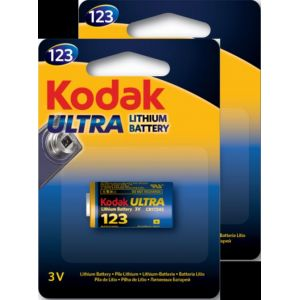 KODAK - Pile - Ultra Lithium - CR17345 / 123LA - lot de 2