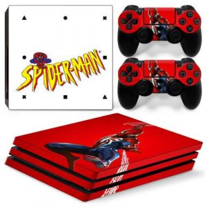 Autocollant Stickers Skin de Protection pour Console et Manette Sony Playstation PS4 Pro - Spiderman #10