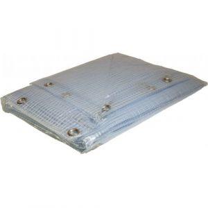 Bâche toiture Armée PVC 6x10 m 400g/m² transparente - Couverture toiture très haute résistance