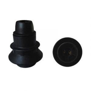 Douille E14 Thermoplastique simple bague Noir