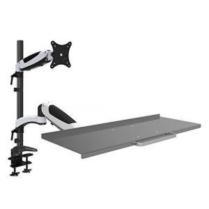 HFTEK® FY01WS Workfit Workstaion support de bureau moniteur écran 15 27 pouces avec VESA 75 / 100