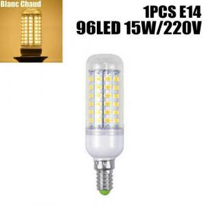 Ampoule à maïs Lumière E14 220V 15W 96LED blanc chaud