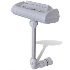 Fontaine pour Piscine Cascade Équipée de 4 Jets d'eau et 12 Lumières LED