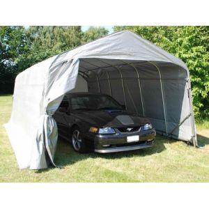 Tente Abri Voiture Garage PRO 3,6x6x2,68m PE, Gris
