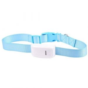 Collier traceur GPS GSM chien chat anti perte balise GPRS localisation SMS bleu - YONIS