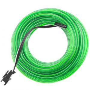Batterie fil électroluminescent vert tendre 5m bobine de 2.3mm