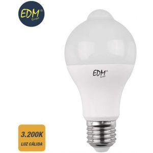 ampoule LED Standard avec capteur présence et crépusculaire E27 12 W 1055lm 3.200 K EDM