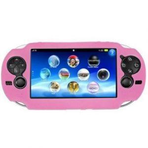 Housse étui protection silicone pour Sony ps vita PSvita - Anti choc / rayures - rose - Straße Game ®
