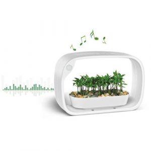 Jardinice - Lampe LED ludique avec jardinière intégrée et enceinte bluetooth 50 LED