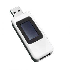 Fesjoy Testeur USB, Affichage numérique LCD 10 in1 Compteur d'énergie USB Testeur de tension Multimètre Testeur de courant USB Compteur Ampèremètre