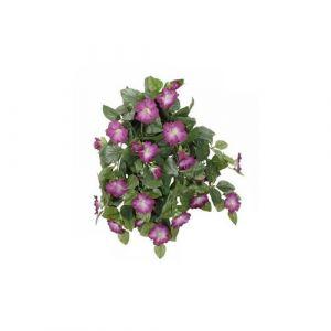 L'Héritier Du Temps - Fleurs artificielles en tissu dans son pot en terre cuite décoration fleurie liseron violet 22x52x53cm