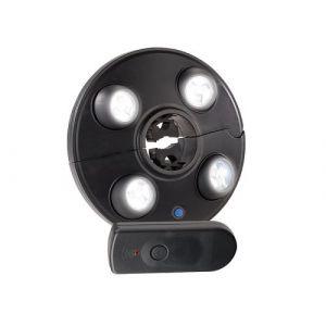 Lampe LED parasol avec 4 spots rotatifs - Avec télécommande