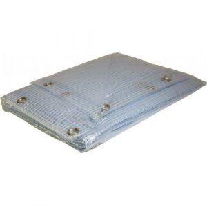 Bâche terrasse armée PVC 6x10 m 400g/m² - Bâche de terrasse armée transparente très haute résistance + de 10 ans