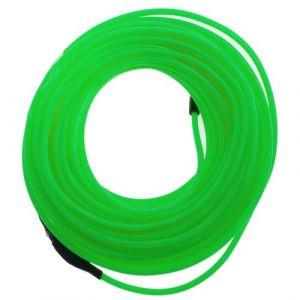 Forte verte fil électroluminescent 2.3mm bobine 10m connecté à 220VAC