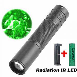 5W 850nm torche LED infrarouge lampe de poche IR zoomable pour la portée de vision nocturne