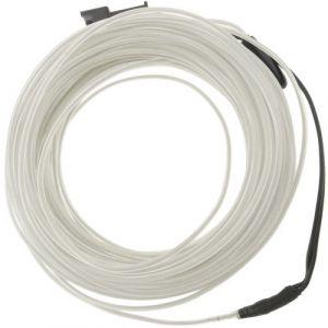 Blanc fil électroluminescent Batterie 5m bobine de 2.3mm