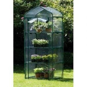 serre de jardin transparente 4 etages en pvc pour plantes fleurs arbustes boutures